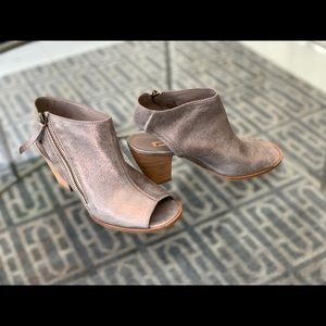 Paul Green Open Toe Leather Booties Size 6
